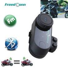Беспроводная Bluetooth гарнитура для мотоциклетного шлема FreedConn, FM радио + мягкие наушники, шлем на все лицо