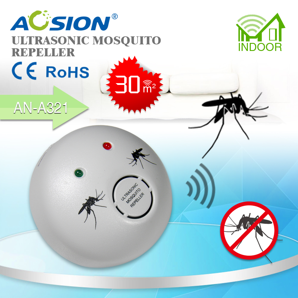2 X Aosion Home help against Zika Virus electronic ultrasonic mosquito repeller repelente de mosquito GS plug image