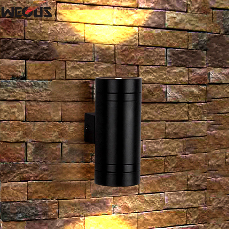 (WECUS) Up And Down LED Wall Light, Indoor Background Lighting, Exterior Outside Porch Light Waterproof Garden Wall Sconces