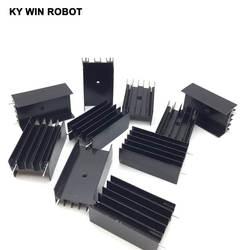 10 шт. алюминия-220 радиатор до 220 радиатор транзистор радиатор TO220 охлаждения Cooler 23*16*40 мм с 2 контакты