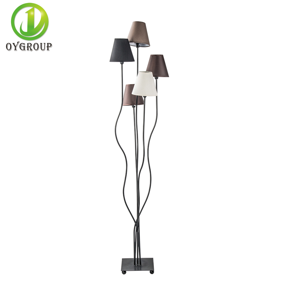 Modern 5 Heads Branch Floor Lamp Wirth Colorful E14 Lampshade Indoor Lighting Decoration For Bedroom Bar Hotel Office In Lamps From Lights