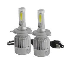Play & Plug72W 8000LM Double COB LED Moto De Voiture Tête Brouillard DRL phare Kit Lampe Lumière H1 H3 H4 Salut/Lo H7 H11 H13 9007 ampoule