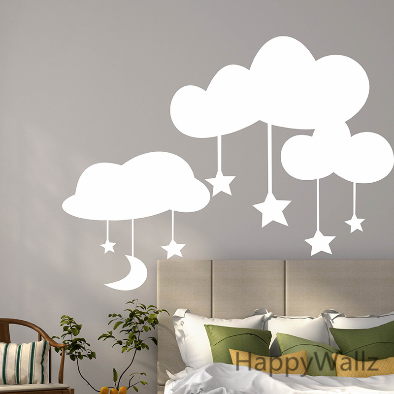 Captivating Aliexpress.com : Buy Baby Nursery Wall Sticker Cartoon Clouds Stars Wall  Decal Kids Room Bedroom DIY Easy Wall Stickers Removable Vinyl Decal N19  From ... Part 18
