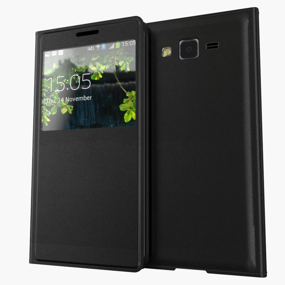 Для Samsung Galaxy J5 <font><b>J500</b></font> J500F J5000 Luxury Задняя Крышка Корпуса Батареи Мода Окно Smart View Флип Кожаный Чехол
