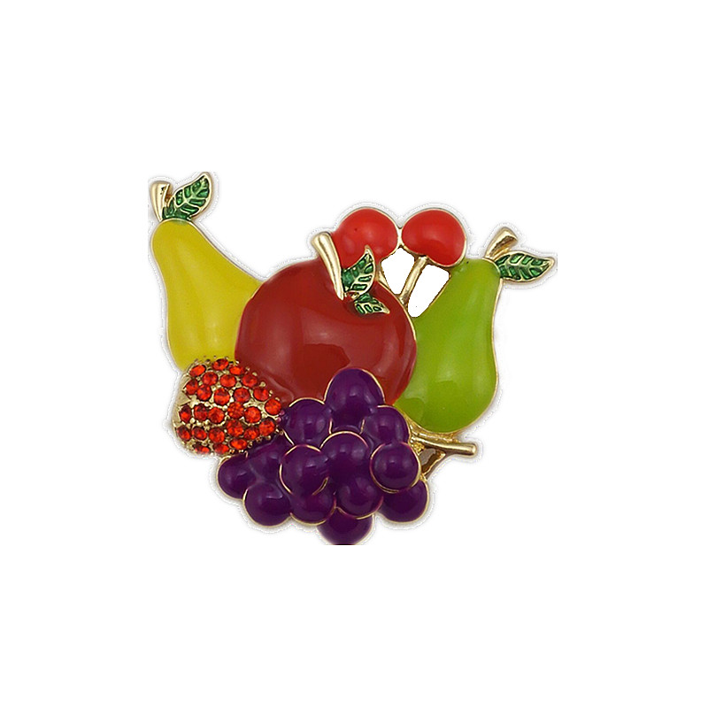 ₪Fashion Women Fruit Brooches Safety Pin Brooch Jewelry Classic ...