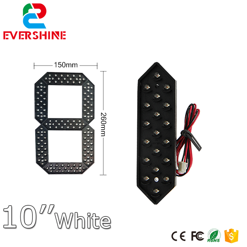 10 inch digital 7 segment Gas Price station led Signs number module color for white red yellow and green