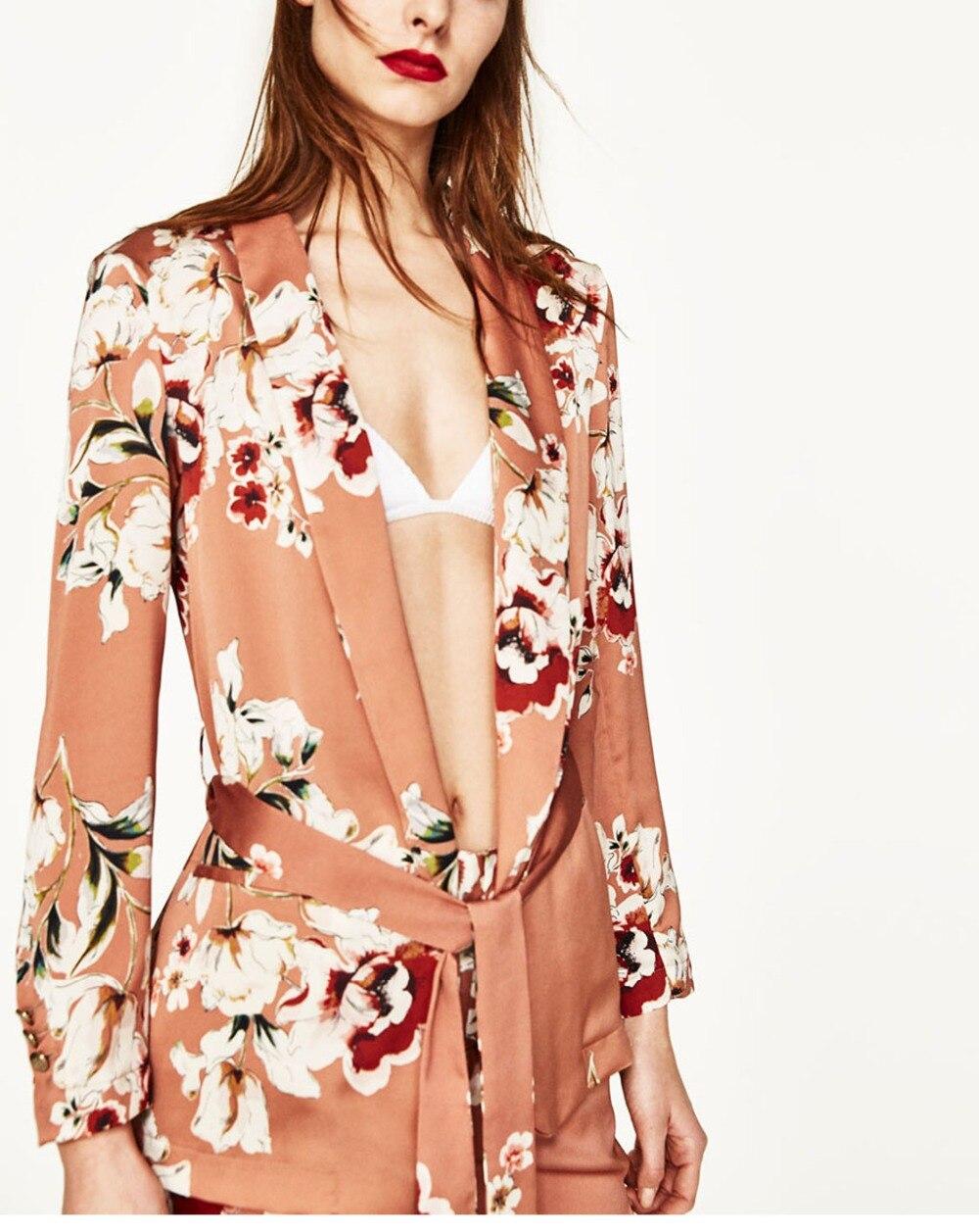 d6a14ddefb4 Ropa de trabajo Blazers Kimono estampado flor Floral fashes traje ...