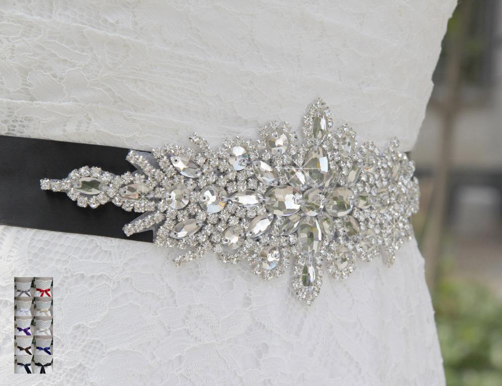 SAINT FORT NIA Wedding Dress Crystal Belt (13)