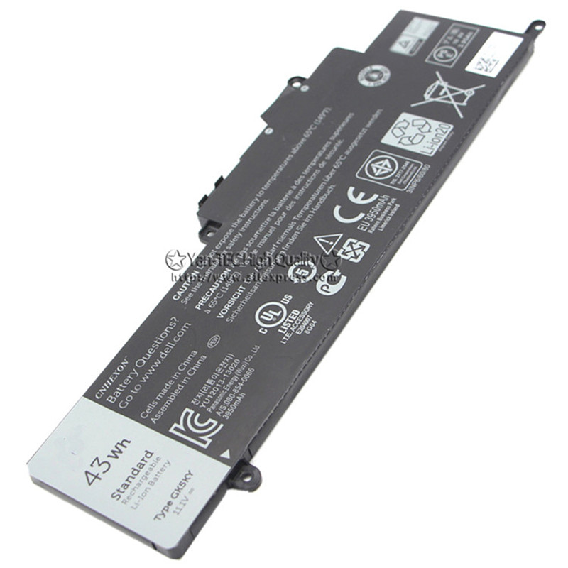 11.1V 43Wh Original Battery GK5KY For DELL Inspiron 11-3147 3148 13-7348 Free Shipping