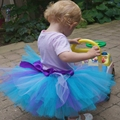 Kids Girl Skirts mix color Handmade Tutu Skirts For Princess Baby Birthday Party Photography Skirts dance competition tutu