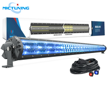 MICTUNING M1s 52 Super Bright Offroad LED Driving Work Light Bar w/ Dual Wiring Harness Kit & Ice Blue Atmosphere Lamp 29100LM