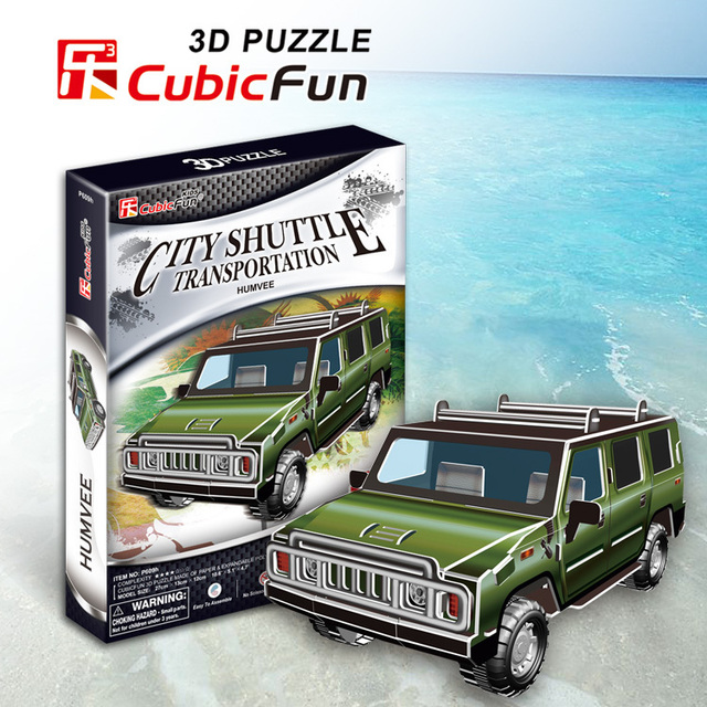 Humvee cubic fun 35pcs 3D Puzzle military paper model DIY kids  Educational toys free shipping