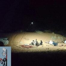 12V светодиодный Походные фонари 3,75 м телескопическая удочка открытый Батарея светильник Удочка светильник белого цвета
