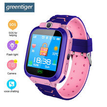 Greentiger Children Smart Watch SOS Safe Camera Flashlight Positioning Kids Smart Watch touch screen Positioning Monitoring(China)