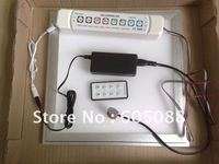 13w square rgb led panel light 300x300mm+RF remote control embeded install full colour led flat lamp DHL free shipping