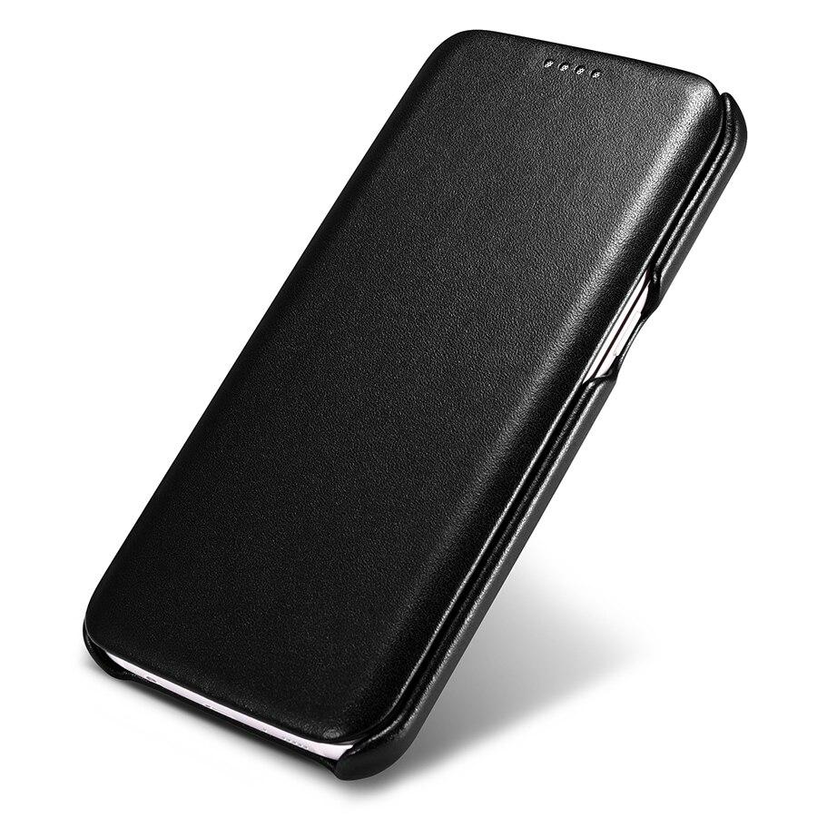 Original ICARER de lujo Funda de cuero auténtico para Samsung Galaxy S7/S7 borde Ultra delgado Flip de la cubierta del teléfono móvil casos accesorios