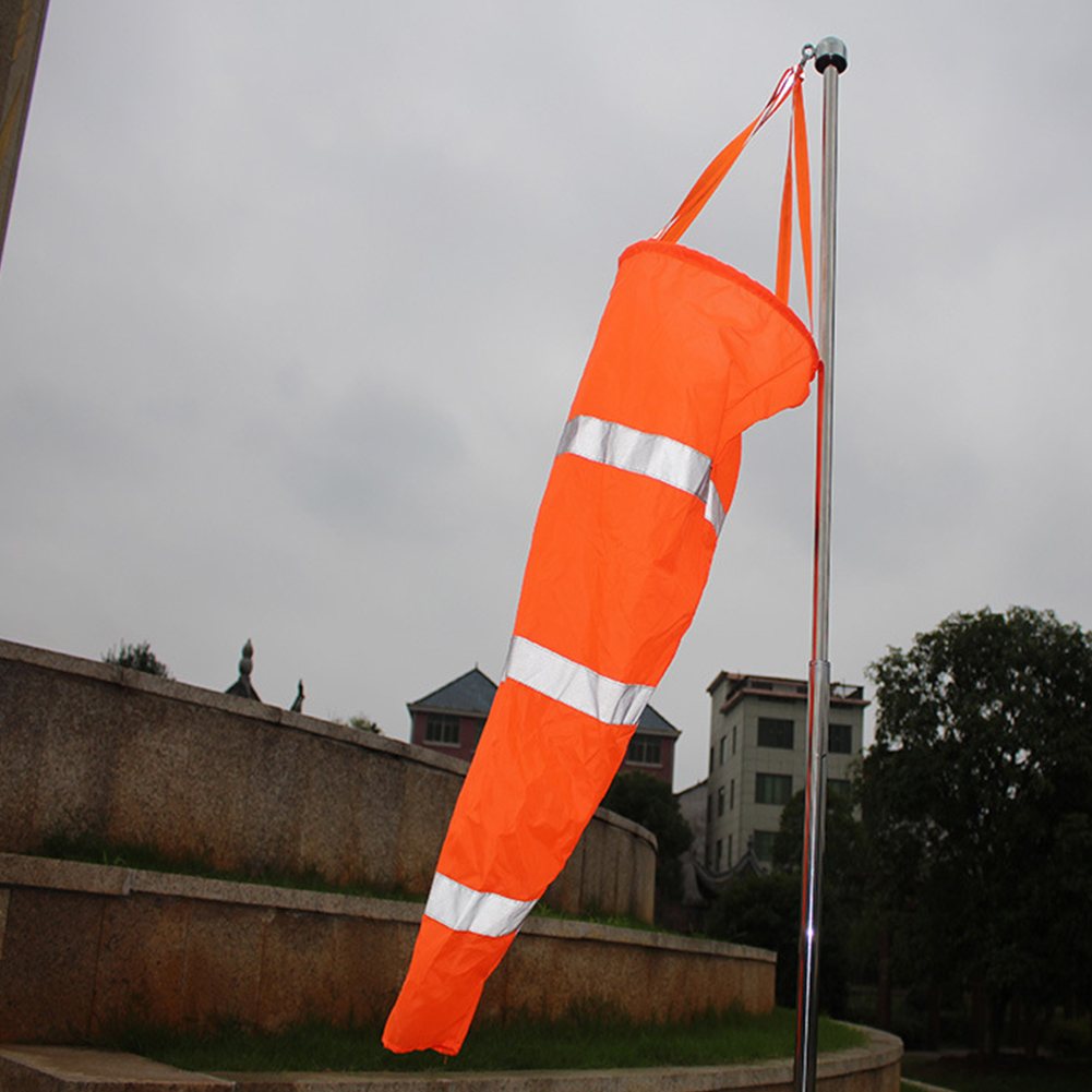 Reflective wind direction test bag Airport Garden Patio Lawn Wind Sock Bag Flag