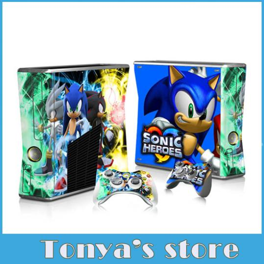 Sonic For Xbox 360 Slim Console 2 Free Controller Vinyl Skin Sticker 1 Pc Free Ship 0182 Xbox 360 Controller Wholesale Xbox 360 Hd Cordxbox 360 Controller Wire Aliexpress