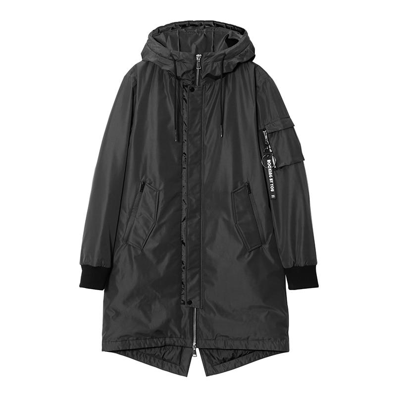 Pioneer Camp épais hommes chaud vers le bas veste marque vêtements long hiver mâle blanc duvet de canard manteau pour hommes top qualité AYR801380
