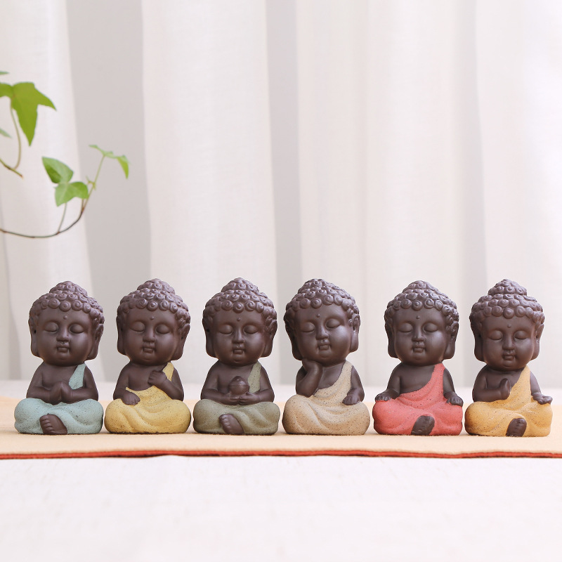 Tathagata posąg buddy Tathagata indie joga Mandala rzeźby ceramiczne naczynie na herbatę ceremonia ozdoby Monk figurka prezent wystrój domu|Posągi i rzeźby|Dom i ogród -