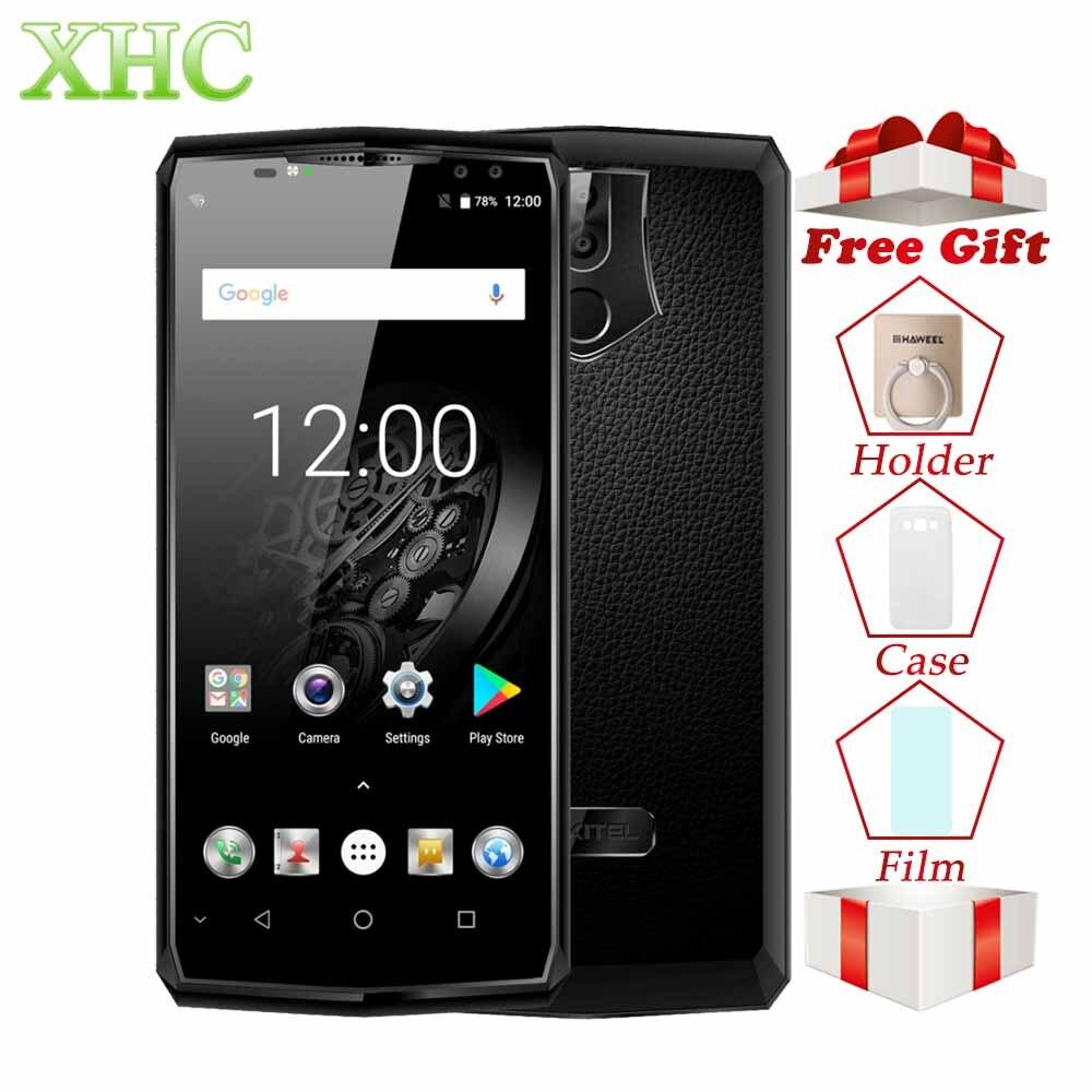 Oukitel K10 6.0 pouce 6 gb RAM 64 gb ROM Smartphones 11000 mah Android 7.0 Helio P23 Octa Core 16MP + 8MP Visage ID 4g LTE Mobile Téléphones