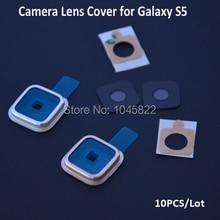 10 шт./лот оригинальные замена стеклянную линзу камеры крышка и рамка держатель для Samsung Galaxy S5 I9600 G900 серебро / золото(China (Mainland))