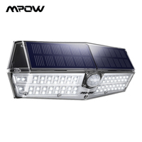 Mpow CD174 3 Adjustable Light Model 60W 66 LED Bright Solar Powered Outdoor Lights IP66 Waterproof For Garden Yard Patio Garage