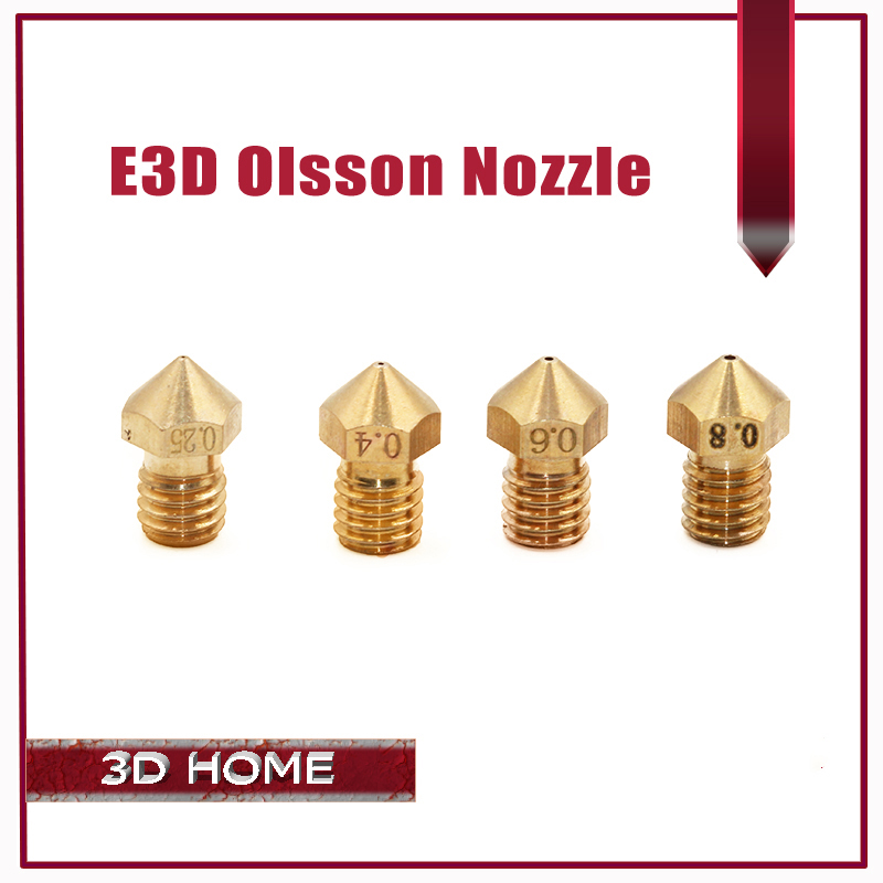 Ultimaker 2 + UM2 0.25 0.4 0.6 0.8mm Extended E3D Heater Hotend Olsson Block Nozzle For 1.75mm/3.0m Filament