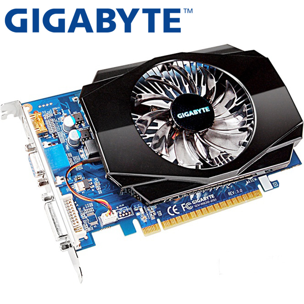 GIGABYTE Video Card Original GT630 2GB 128Bit GDDR3 Graphics Cards for nVIDIA VGA Cards Geforce GT 630 Hdmi Dvi Used On Sale(China)