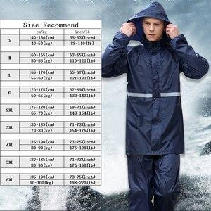 Image 5 - Rainfreemレインコートスーツ不浸透性女性/メンズフード付きオートバイポンチョS 6XLハイキング釣り雨具
