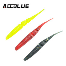 ALLBLUE 10pcs/Lot Fishing Lure 80mm/1.7g Silicone Lures For Fishing Soft Bait Worm isca artificial Carp Fishing Tackle