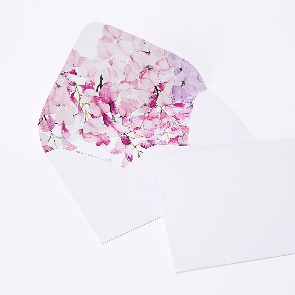 50 unidades/juego de sobres para ventana de regalo de papel de dibujos animados, sobres kraft de colores graduales para plantación, tamaño 162x114mm, 9 colores