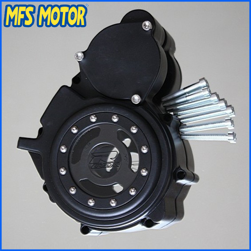 Freeshipping motorcycle parts Left Billet Engine Stator cover see through For Suzuki GSXR 600 750 2006-2013 Bk aftermarket free shipping motorcycle parts billet engine stator cover for honda cbr1000rr 2008 2013 chrome left side