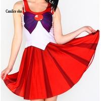 CANDICE ELSA Woman Dress Digital Printing Wholesale Halloween New Wholesale Beauty Girl Warrior