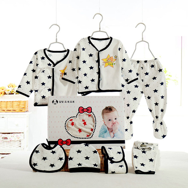 f5d68958037 Emotion Moms 7Pcs Set Newborn baby girls Clothing 0-6months infants baby  clothes girl boys clothing baby gift set without box