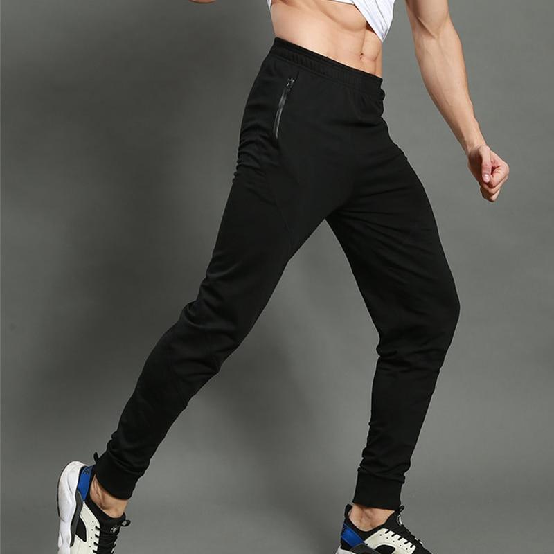 Men Running Pants Sports Outdoor Jogging Elastic Fitness Gym Football Soccer Basketball Training Pants Slim Skinny Trousers