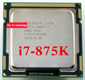 Core i7 875K 2.93GHz 8M SLBS2 Quad Core Eight threads desktop processors Computer CPU Socket LGA 1156 pin