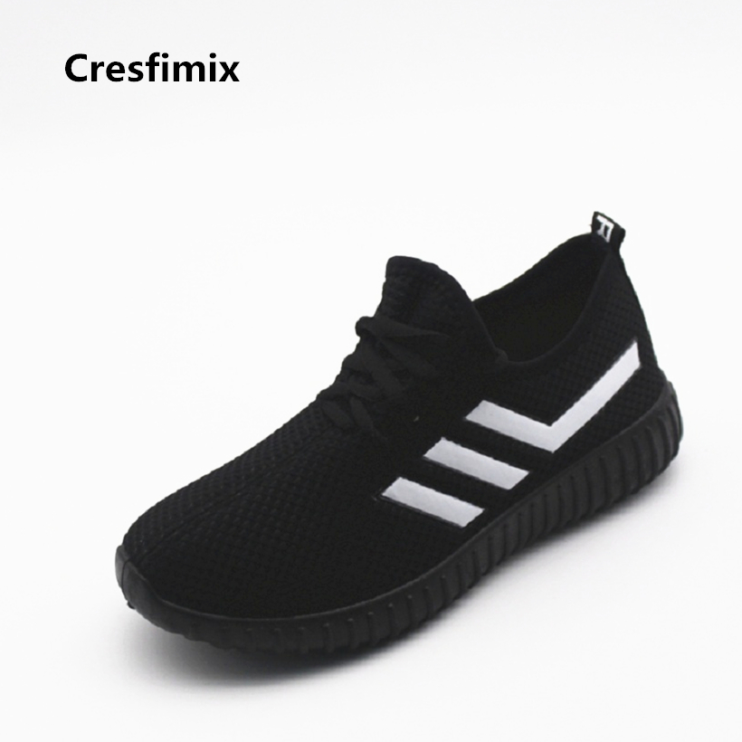 Cresfimix women fashion outdoor soft and comfortable shoes zapatos de mujer female cute travel lace up shoes lady shoes