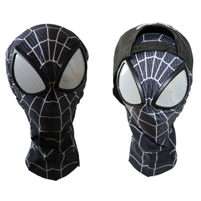 3d Nero Spiderman Maschera Per Adulti Spider-man Lenti Cosplay Costumi Di Halloween Di Purim Maschere