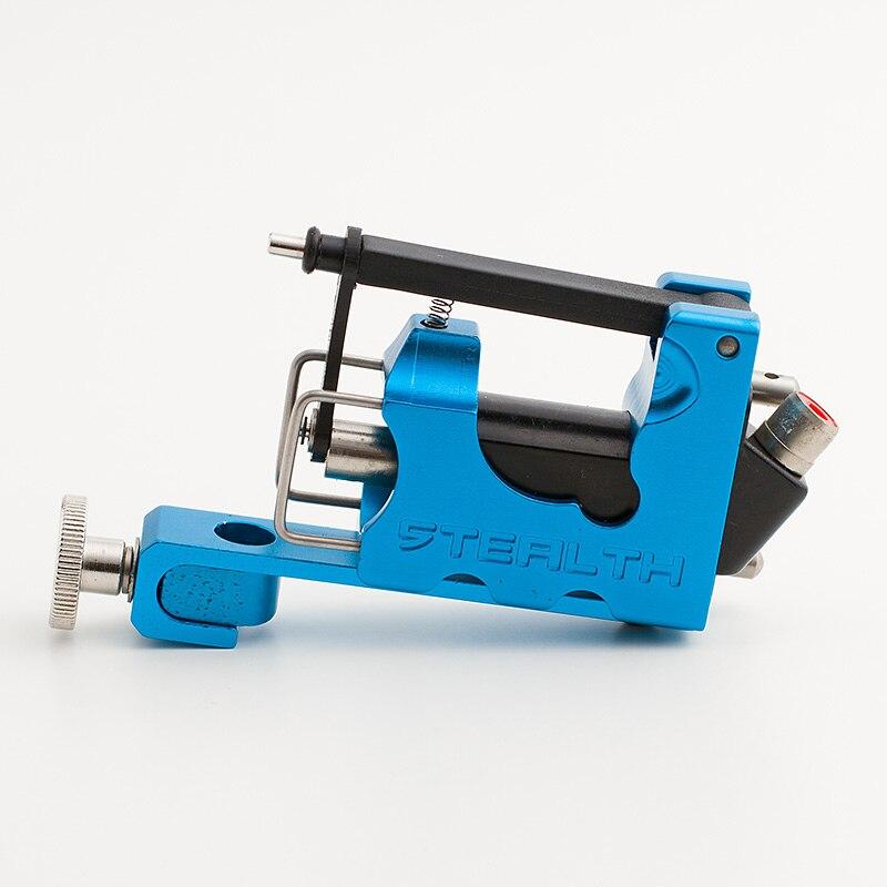 Machine à tatouer électrique alliage Stealth 2.0 Machine à tatouer rotative doublure Shader bleu avec boîte 2 roulements 1 clés Allen
