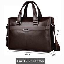 Echtes leder aktentasche, laptop leder tasche, für 15 zoll notebook computer, 15,6 zoll laptop-tasche