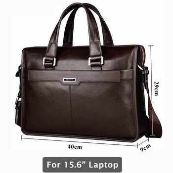 Genuine leather briefcase, laptop leather bag, for 15 inch notebook computer, 15.6 inch laptop bag - DISCOUNT ITEM  40% OFF All Category
