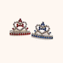 6pcs x each stone color way 3pcs free shipping rhinestone heart bone mini crown tiara pets