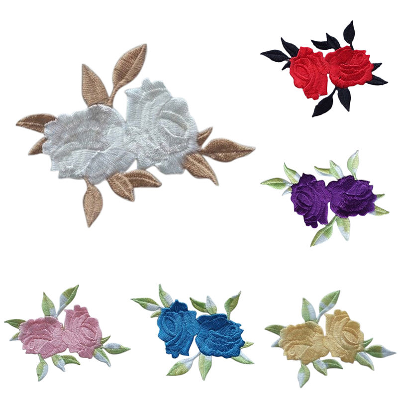 1PC~FALL FLOWER~IRON ON EMBROIDERED APPLIQUE PATCH