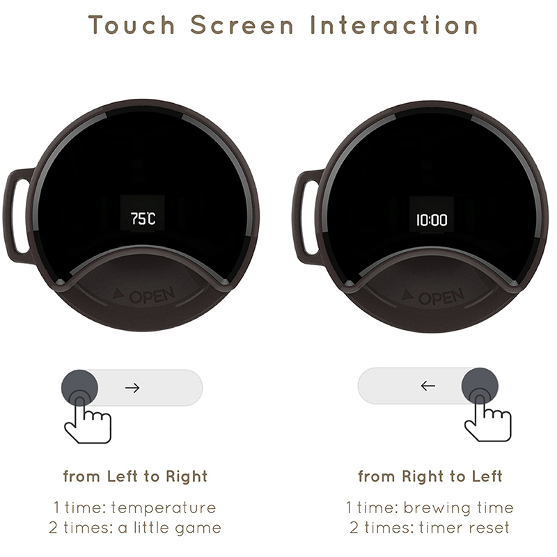 Image 2 - Xiaomi Travel Mug Moka Smart Coffee Tumbler 430ml Portable Vacuum Bottle OLED Touch Screen Thermos Stainless Steel Coffee Cup-in Smart Remote Control from Consumer Electronics