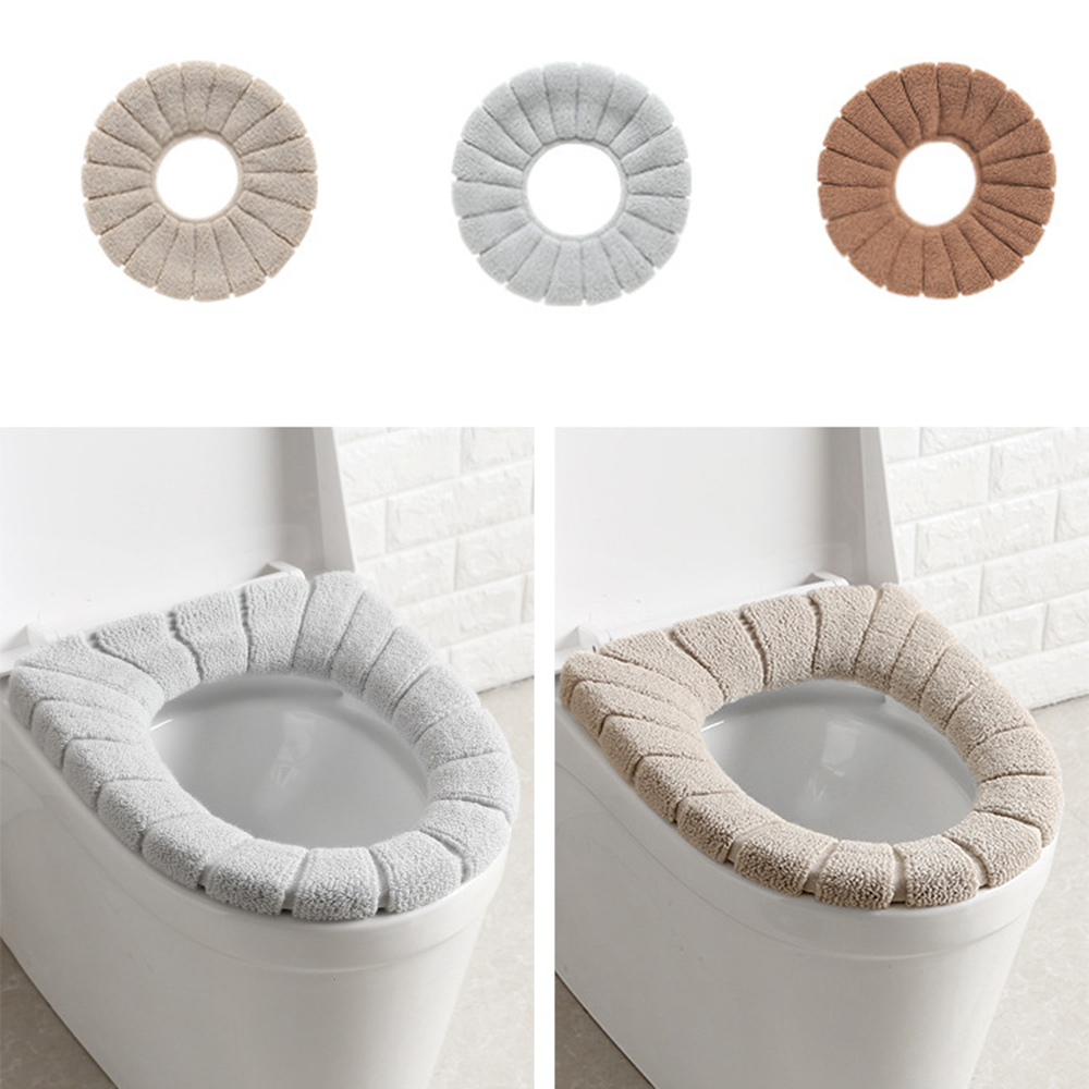 Toiletset Accessoires 2019 New Winter Comfortable Soft Heated Washable Toilet Seat Mat