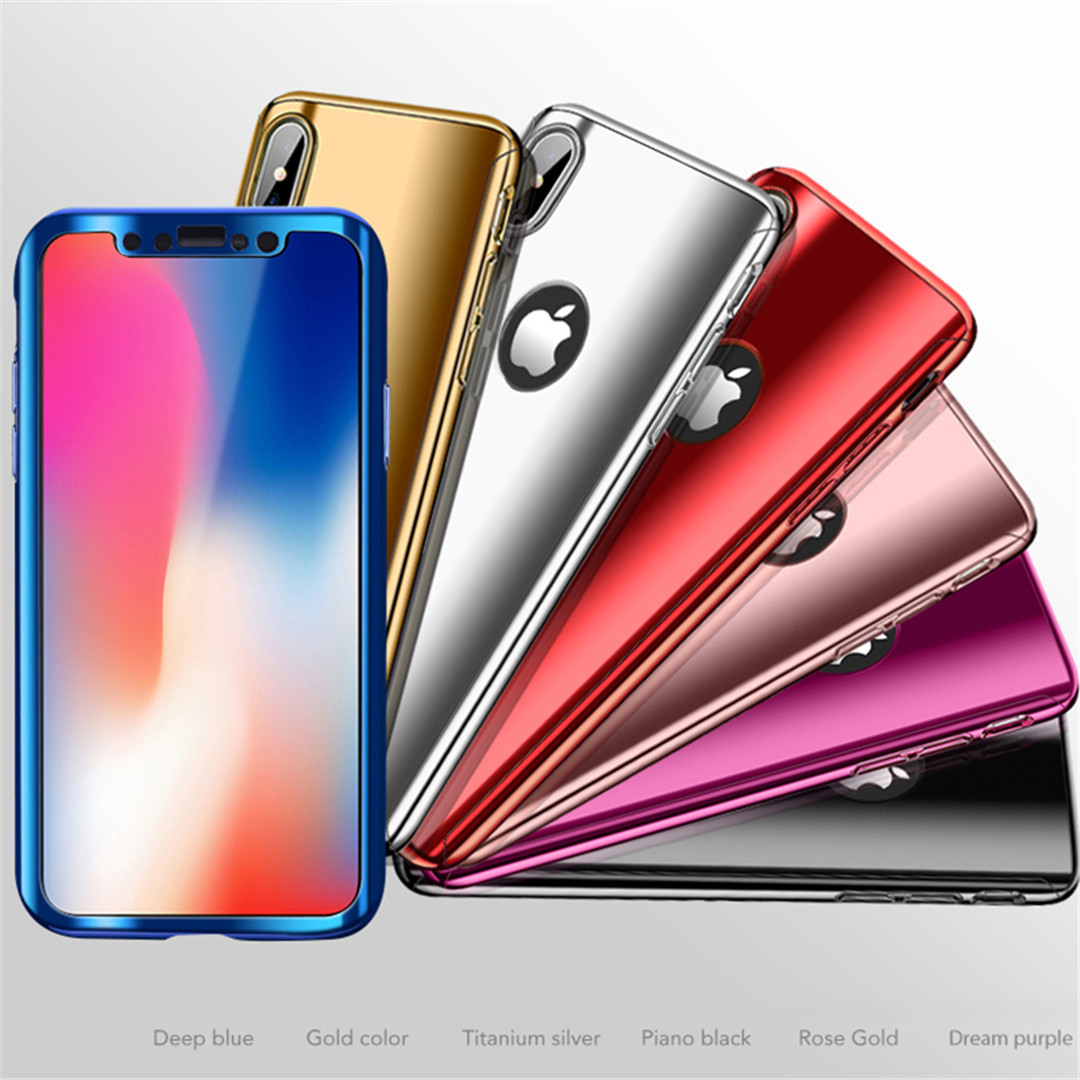 For Iphone Xs Xr Xs Max 360 Plating Mirror Iphone X 8 7 6 6s Plus
