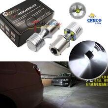 2x White High Power 20W CR'EE 1156 P21w BA15s LED Bulbs for Reverse Backup Lights