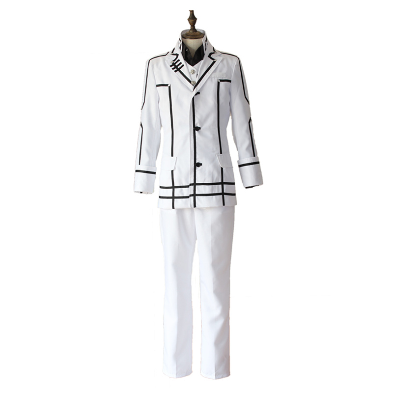 New Arrival Anime Vampire Knight Kuran Kaname Cosplay Costume White Uniform Full Set Cosplay Clothes S/M/L/XL