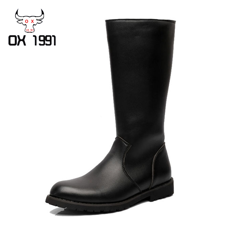 Mens High Leather Boots - Boot Hto